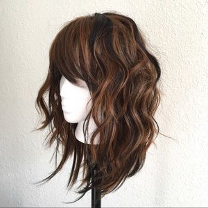 NEW Brown Synthetic Heat Resistant Wig